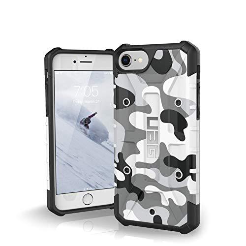 Urban Armor Gear Limited Edition Pathfinder Schutzhülle nach US-Militärstandard für Apple iPhone 8 / 7 / 6S / 6 (Camo weiß/schwarz) [Verstärkte Ecken, Sturzfest, Antistatisch] - IPH8/7-A-WC