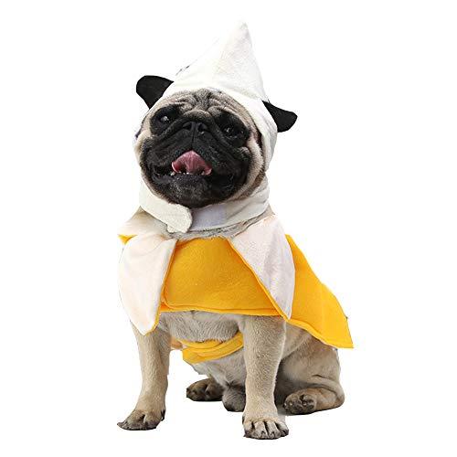 XIYAOHaustierKostüme Kleidung, HundeLustige KleidungHalloweenBananeTransformiertes KleidCosplayKostüme