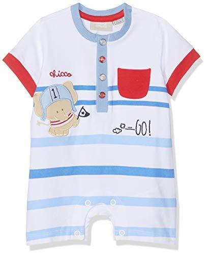 Chicco Baby-Jungen Pagliaccetto Manica Corta Spieler, Weiß (Bianco 033), 68 (Herstellergröße: 068)