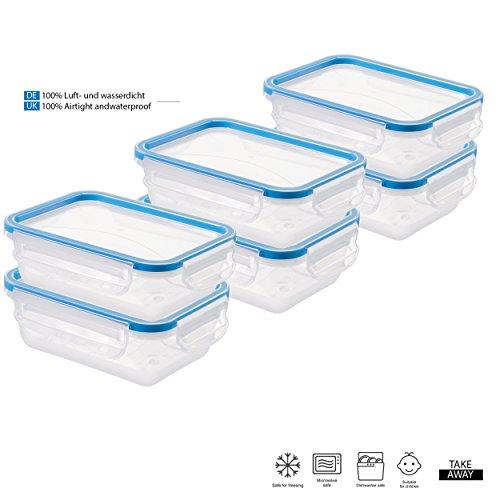 Tivoli Vorratsdosen 0,43L / 6-teiliges Set / aromadichter Aufbewahrungsboxen / BPA-freie Frischhaltedosen / Kunststoffbehälter ist spülmaschinentauglich