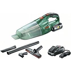 Bosch Aspirateur sans fil PAS 18 LI avec 1 batterie 18V 2,5 Ah, technologie Syneon 06033B9002
