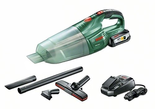 Bosch Home and Garden PAS 18 LI Aspiratore con Batteria al Litio, 45 W, 18 V, Grün, Transparent