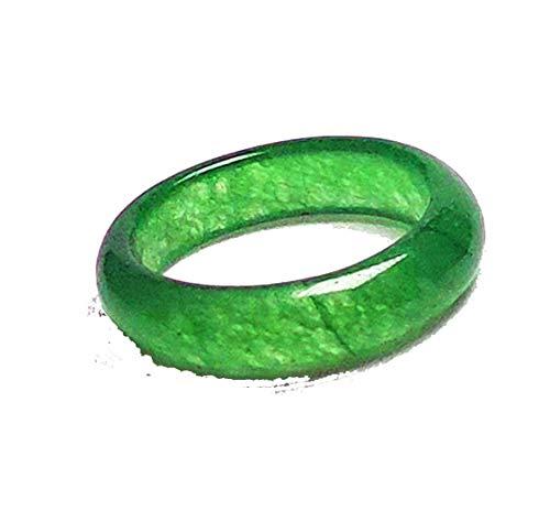 Chapado oro mujeres hombre natural verde Jade jadeíta
