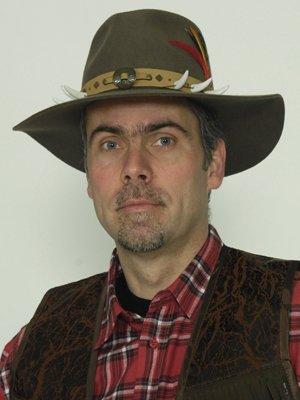 Sombrero de Indiana años, decoración marrón, hueso. Tamaño: L