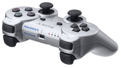PlayStation 3 Dualshock 3 Wireless Controller (Japanese Version) - Silver (japan import)