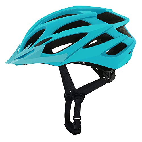 Pkfinrd Fahrrad Fahrradhelm Erwachsene Mountainbike Helm Fahrrad Fahrradhelm Einstellbarer Komfort Sicherheit Fahrradhelm Outdoor Sports Radfahren@Gletscherblau_M / l (55-61 cm)