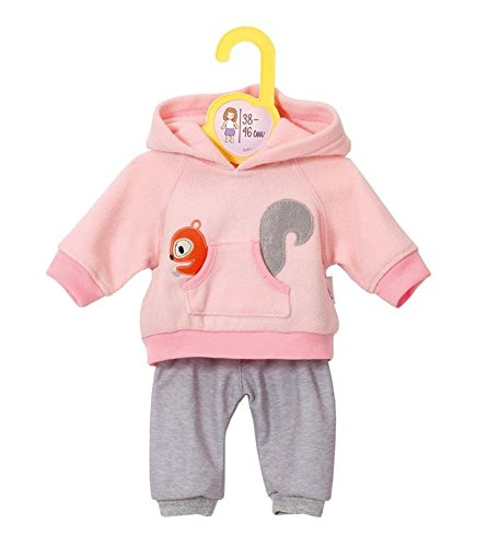 Zapf Creation 870044 - Dolly Moda Sport-Outfit, 38-46 cm, rosa (Baby Born Kleidung)