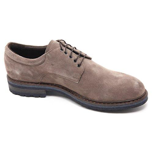 B5755 scarpa uomo ALTIERI MILANO scarpe classiche tortora shoe man Tortora