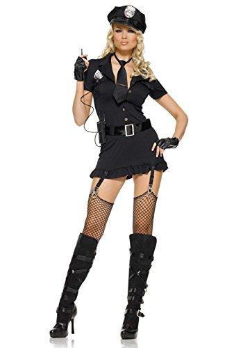 Leg Avenue 83344 - Dirty Cop Damen kostüm, Größe XS (Schwarz) (Dirty Cop Kostüme)