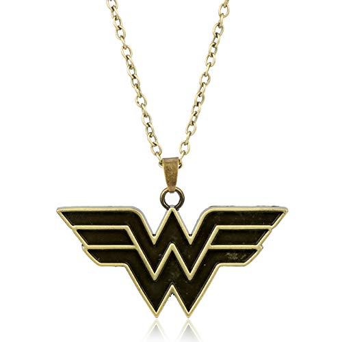 DADATU Halsketten für Herren Wonder Woman Logo