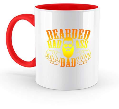 generisch Bearded Badass Dad - Hell Yeah - Zweifarbige Tasse -330ml-Rubinrot