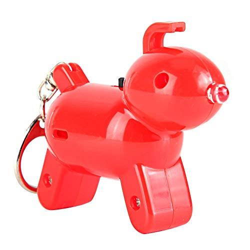 Keychain Tracer, anti-perso Voice Control Key Anti-perso dispositivo con induzione di fischietto adatto per portafogli, auto, animali domestici, bambini, borse(Rosso)