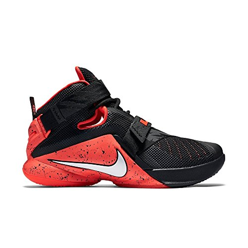 Nike Lebron Soldier Ix Prm, Hombre Sneaker Negro / Rojo