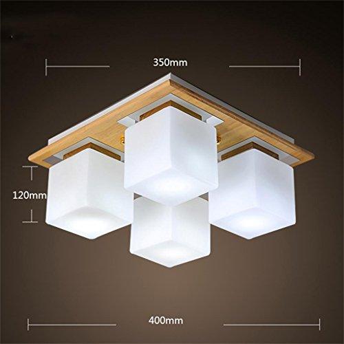 Uncle Sam LI - Lampe de plafond en bois massif nordique simple