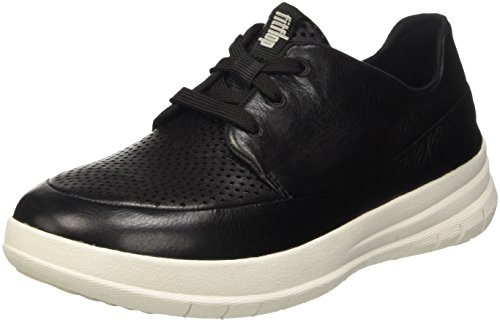 Fitflop Sporty-Pop Tm Softy Sneaker, Scarpe Low-Top Donna, Nero (Black/Antracite), 39 EU