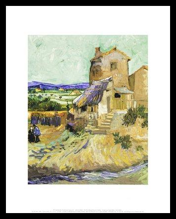Vincent van Gogh The Old Mill, 1888 Poster Bild Kunstdruck im Alu Rahmen in schwarz 36x28cm