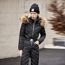 Vêtements de Ski, GkDDZH Veste de Ski et Pantalons de Ski, Combinaison Femme Jumpsuit Femme Snowboard Imperméable Général Russie, Ivoire, XL