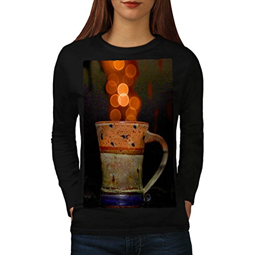 stylish-cup-of-tea-color-bubbles-women-new-black-m-long-sleeve-t-shirt-wellcoda