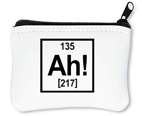 Ah Chemistry Symbol Reißverschluss-Geldbörse Brieftasche Geldbörse