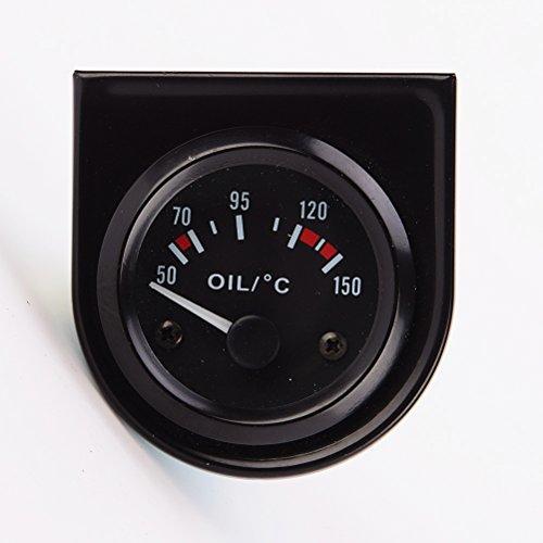 WINOMO 52MM Öltemperaturanzeige für Auto Motorrad 12V