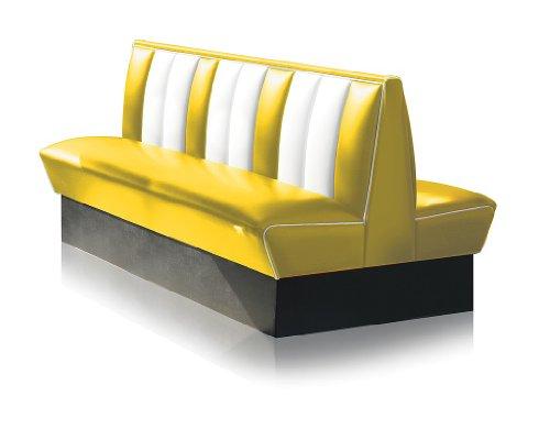 Bel-Air-Diner-Banco-8-colores-Retro-Fifties-HW-de-150db-50-aos-Banco-cromo-Art-Deco