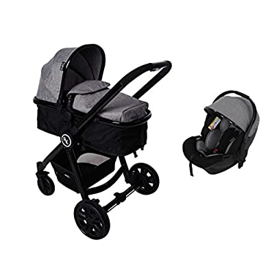 RedKite Push Me Fusion Pushchair Travel System With Convertible Seat/Carrycot & Car Seat - Platinum  iSafe