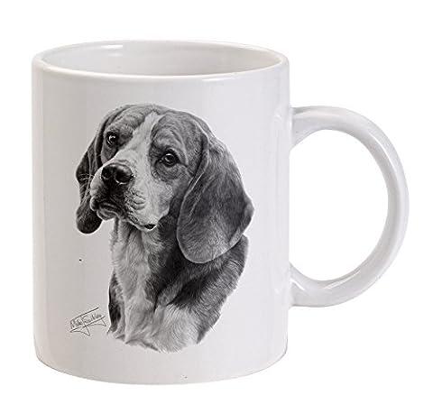 Mike Sibley Beagle weiße Tasse