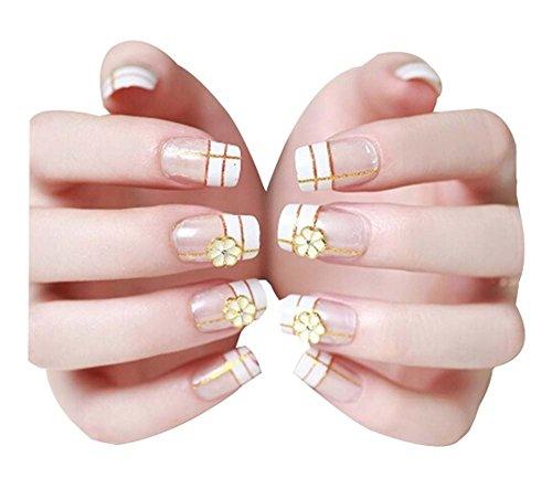 2 Boîtes(48Pièces) Élégant faux ongle/Classique style faux ongle