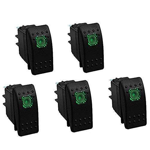 RKURCK Interruptor basculante automático, Interruptor de Encendido/Apagado LED, 4 Pines para Coche,...