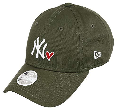 New Era New York Yankees MLB Cap New Era 9forty Damen Verstellbar Herz Oliv - One-Size