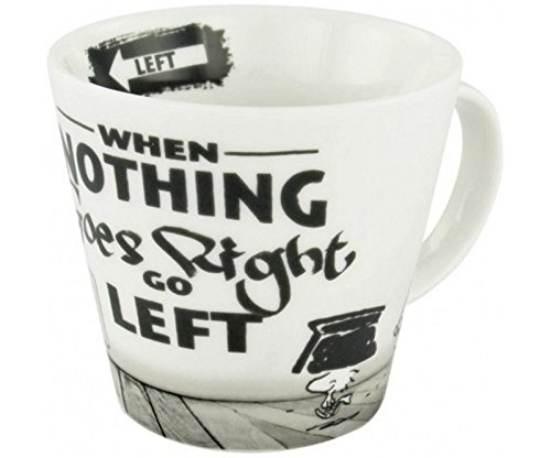 Peanuts Snoopy Tasse – When nothing goes right go left