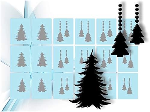 Airbrush Schablonen Nailart - Nail Art Schablone selbstklebend, Winter, Weihnachten