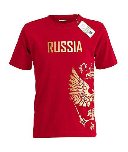 RUSSIA ADLER – RUSSLAND – KIDS – Rot – T-SHIRT by Jayess-Kids Gr. 110/116
