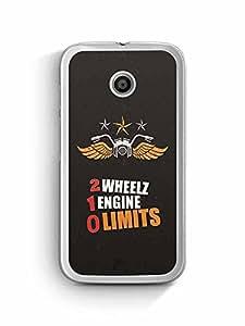 YuBingo 2 Wheels, 1 Engine, 0 Limits Designer Mobile Case Back Cover for Motorola E2