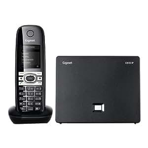 Gigaset C610 IP Téléphone VoiP sans fil avec Eco DECT Noir