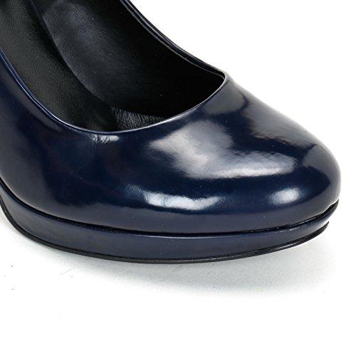 Estradà Scarpe&Scarpe - Scarpe col Tacco con plateau e tacco largo Blue
