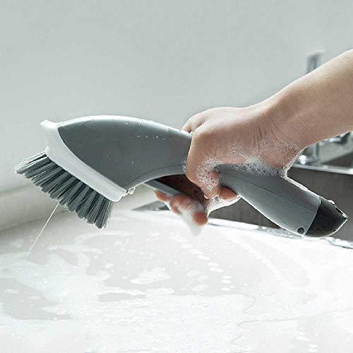 LIUGAOHUA Grillbürste Lange Handgriffe Haushaltsherd Spritz Pinsel Küchenwaschmittel Topf Pinsel Reinigung Bürste 30 * 9 * 10cm/grau - Gesicht Spritz