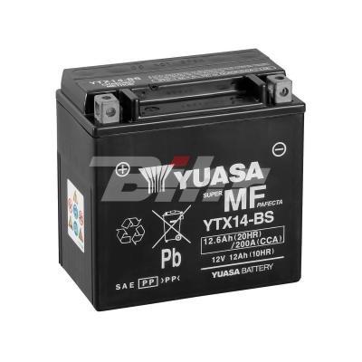 YUASA - Batería YTX14-BS Combipack (con electrolito)