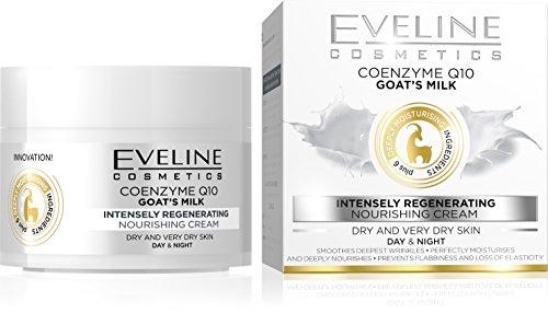Eveline Cosmetics Ziegenmilch + Coenzym Q10 Antifalten Creme für Tag und Nacht 50 ml