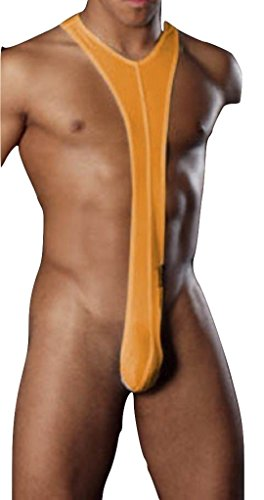 Preisvergleich Produktbild New Men 's und Gay 's Orange Stretch Borat Mankini Unterwäsche Stripper Nachtwäsche Hirsch Do Fancy Kleid Badeanzug Größe L