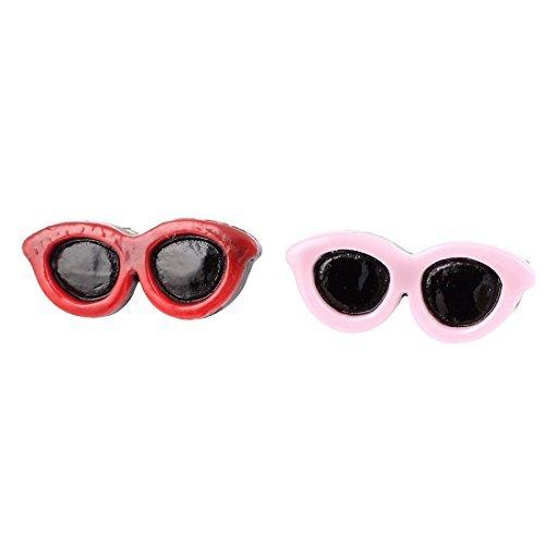 Artikelbild: Pet Hair Bows Clips Zonnebril Doggie Dog Accessoires 2 stuks Rood Roze