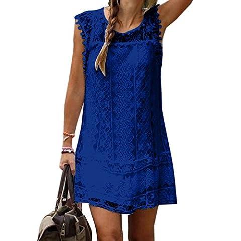 La Taille Des Robes Dété - des femmes Lady dentelle bleu robe sans