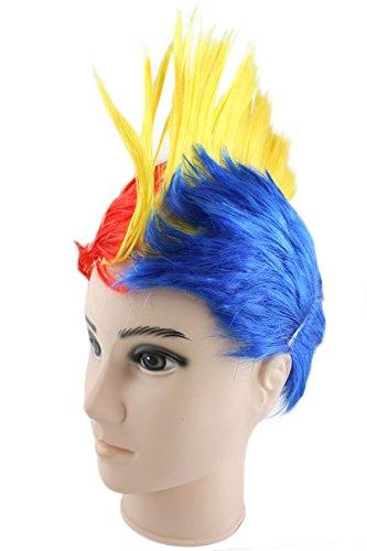 Sonia Originelli Perücke Irokese IRO Kopfbedeckung WM EM Fan Party Fasching Karneval Farbe Rumänien
