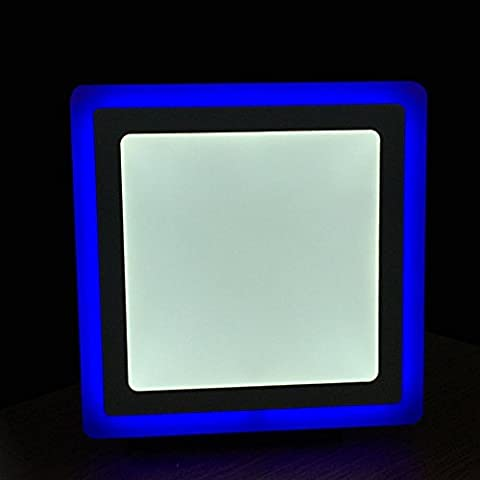 LED Office Ceiling down lights Recessed Surface mounted Shop Spot lighting panel changing colour Blue & white Round / Square Model (12 Watts Square)