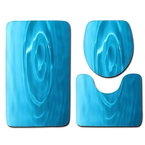 Klein Ball Teppich-3Teile/Satz Matten Bad Carpet Ozean Unterwasserwelt Anti Slip Wc Muster Flanell Wc Sitzbezug Set45X75CM