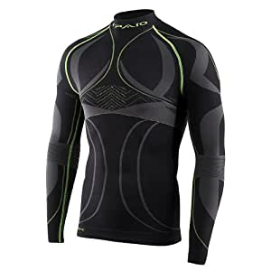 Spaio Revolution Line Herren Kompression Thermohemd Funkstionsunterwäsche Skiunterwäsche langarm T-Shirt XL