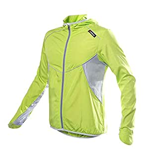 Lixada unisexe vêtement sportif Jersey veste Course Cyclisme Vélo coupe-vent manteau ?capuche Vêtements Casual-résistant ?l'eau