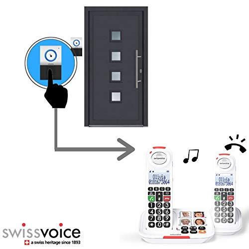 Schnurloses Duo-Telefon mit Anrufbeantworter Swissvoice Xtra 2155 + Türklingel Xtra Doorbell 8155
