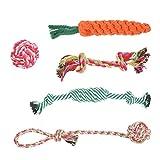 BUYGOO 5 Stück Hunde Kauspielzeug Seil Hundespielzeug Welpe Spielzeug Seil Spielzeug Set für Hunde,Interaktive Gesundheit Zähne Reinigung, Hundespielzeug Set Baumwolle Seil Spielzeug für Welpen, Hunde, Katzen Zahnreinigung