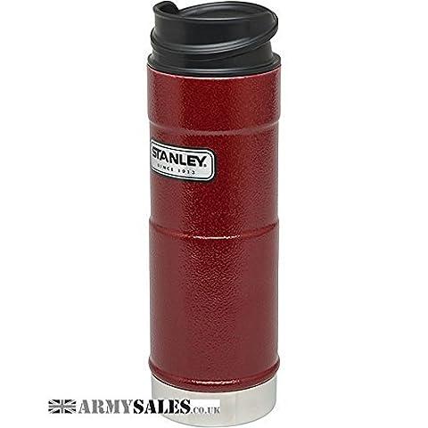 Stanley classique bouteille isotherme sous vide à une main, Hammertone Crimson Red, 354ml